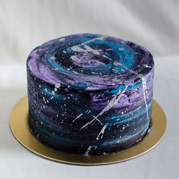 Dark Galaxy Cake - Custom Bakes by Edith Patisserie