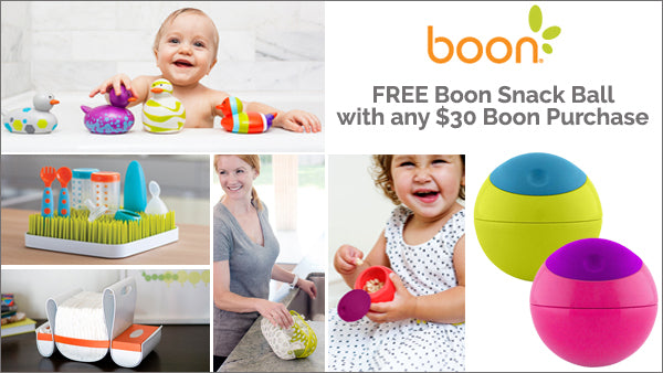 Spend $30 on BOON Baby Products to Receive a FREE BOON Snack Ball