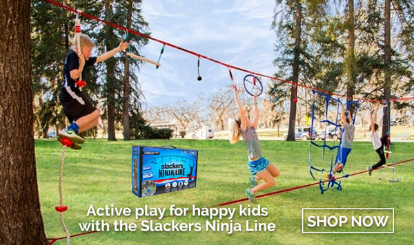 Slackers are the perfect outdoor toy for active kids