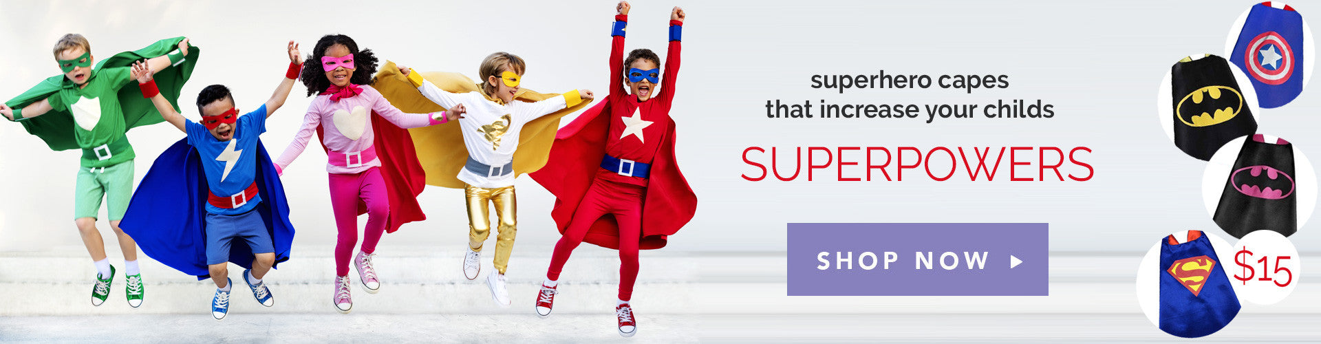 Superhero Capes for Kids at Unde $15