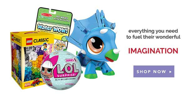 We have all the toys to spark your child's imagination