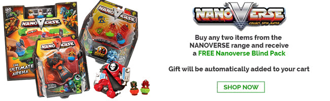 Nanoverse Special Offer - buy any two items and receive a FREE Nanoverse Mystery Pack