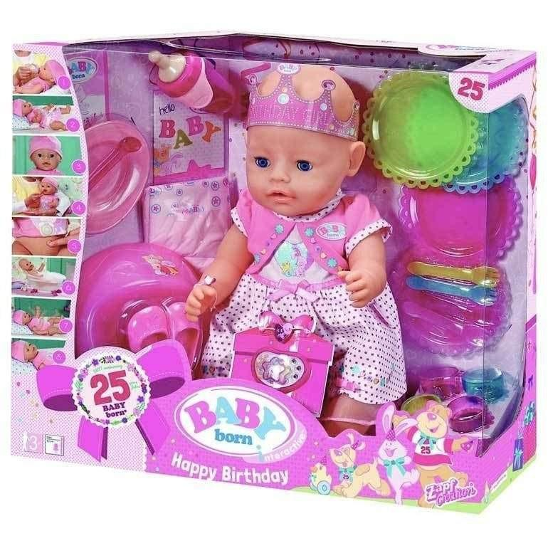Buy Baby Born Interactive Happy Birthday Doll Online At Toy Universe