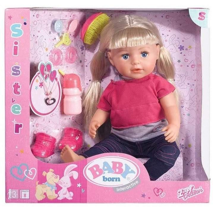 Buy Baby Born Interactive Sister Doll Online At Toy