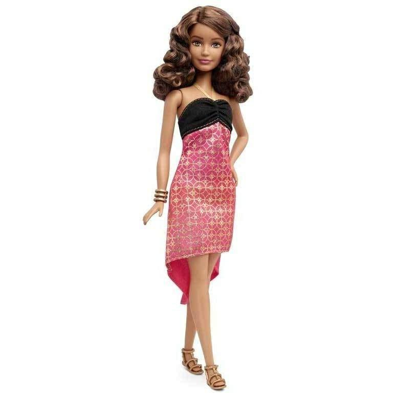 Buy Barbie Fashionista Doll 24 Crazy For Coral Petite Doll online at Toy Universe