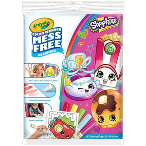 Crayola Colour Wonder Mess Free Shopkins Colouring Kit