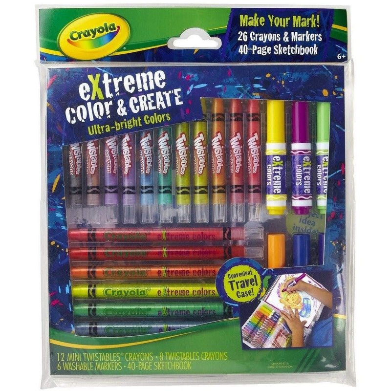 Buy Crayola Extreme Colour and Create Crayons & Markers Set at Toy Universe