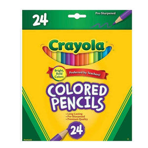 Crayola Full Size Colour Pencils - 24 Pack