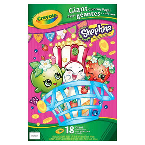 Crayola Giant Colouring Pages Shopkins