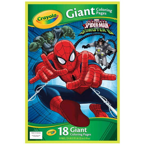 Crayola Giant Colouring Pages Spiderman