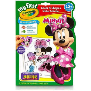 Crayola My First Colour and Shape Sticker Activities - Minnie Mouse