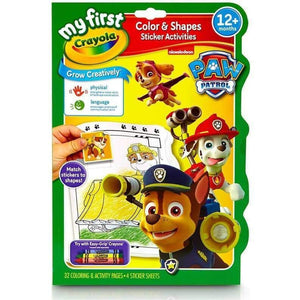 Crayola My First Colour and Shape Sticker Activities - Paw Patrol