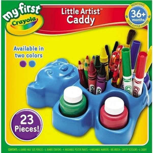 Crayola My First Little Artist Bear Caddy - Purple