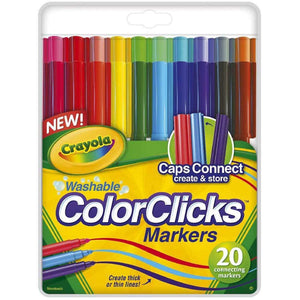 Crayola Washable ColorClicks Markers - 20 Pack