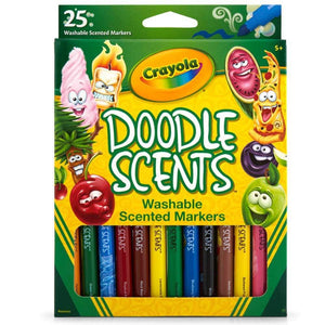Crayola Washable Doodle Scents Markers - 25 Pack