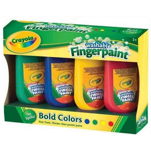 Crayola Washable Fingerpaints - 4 Pack