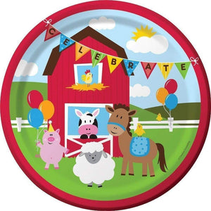 Farmhouse Fun Party Dinner Plates - Pack of 8
