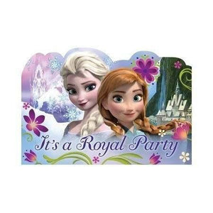 Frozen Party Invitations with Envelopes - Pack of 8