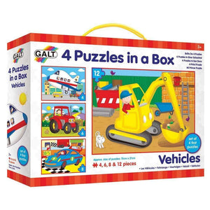 Galt Four Puzzles in a Box - Vehicles