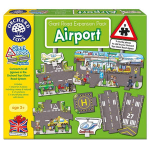 Giant Road Expansion Pack Airport 9pc by Orchard Toys