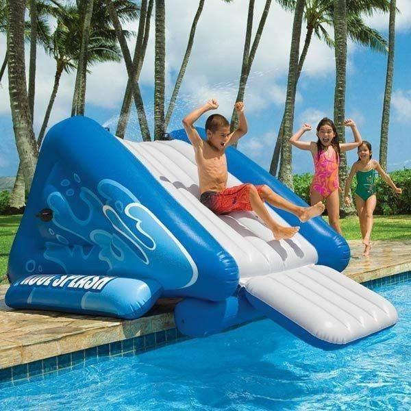 3e2916cb89c82 Giant Inflatable Pool Water Slide - Easy To Blow Up
