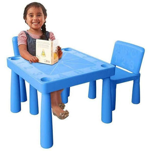 Jolly Kidz ABC Table and Chairs - Blue