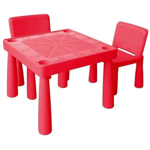 Jolly Kidz ABC Table and Chairs - Red
