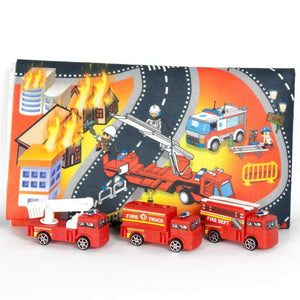 Kids Fire Fighters Traffic Playmat with Cars