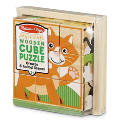 Melissa & Doug - My First Wooden Cube Puzzle - Animals