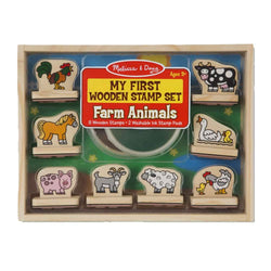 Melissa & Doug - My First Wooden Farm Animals Stamp Set