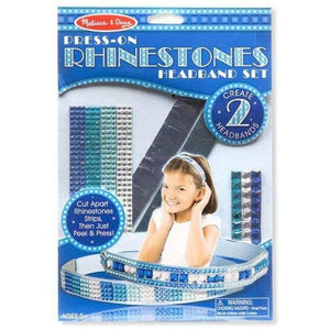 Melissa & Doug Press On Rhinestone Headband Set