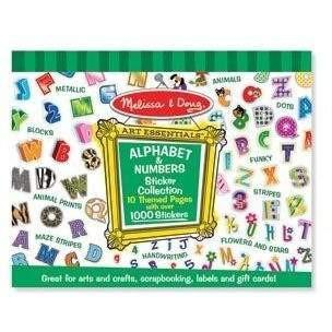 Buy Melissa and Doug Alphabet and Numbers Sticker Collection Online at Toy Universe