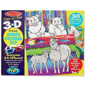 Melissa and Doug Easy to See 3D Colouring Pad Animals