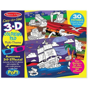 Melissa and Doug Easy to See 3D Colouring Pad in Blue