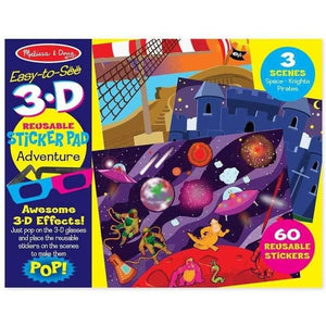 Melissa and Doug Easy to See 3D Reusable Stickers Adventure
