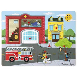 Melissa and Doug Fire Station Sound Puzzle - 8 Pieces