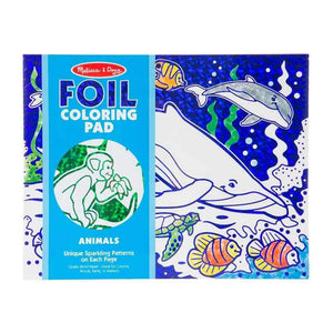 Melissa and Doug Foil Colouring Pad - Animals