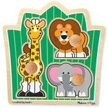Melissa and Doug Melissa and Doug Jungle Friends Knob Puzzle - 3 Piece - Buy Online