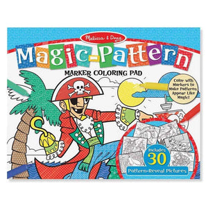 Melissa and Doug Magic Pattern Marker Colouring Pad - Blue