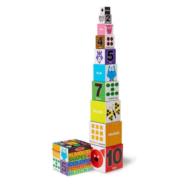 Buy Melissa and Doug Number, Shapes, Colours Nesting and Stacking Blocks Online at Toy Universe