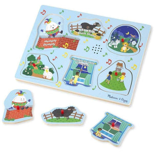 Melissa and Doug Nursery Rhyme Blue Sound Puzzle - 6 Pieces