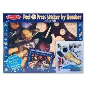 Melissa and Doug Peel and Press Sticker by Number - Space Mission