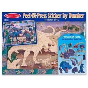 Melissa and Doug Peel and Press Sticker by Numbers - Dinosaur
