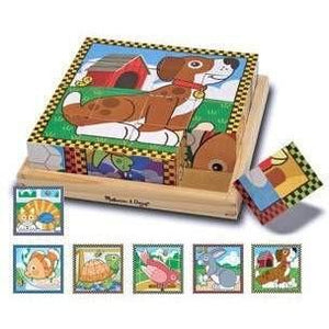 Melissa and Doug Pets Cube Puzzle - 16 Piece
