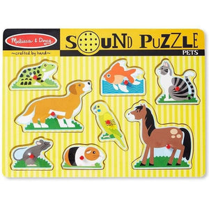 Melissa and Doug Pets Sound Puzzle - 8 Piece