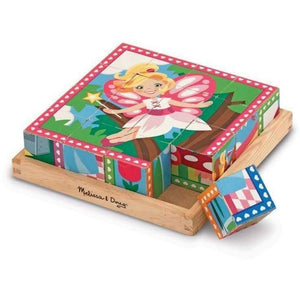 Melissa and Doug Princess and Fairies Cube Puzzle - 16 Piece