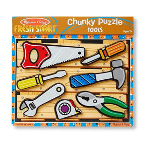Melissa and Doug Tools Chunky Puzzle - 7 Piece