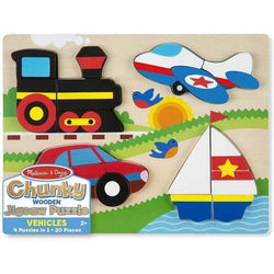 Melissa and Doug Vehicles Chunky Puzzle - 20 Piece