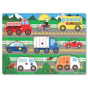 Melissa and Doug Vehicles Peg Puzzle - 8 Pieces