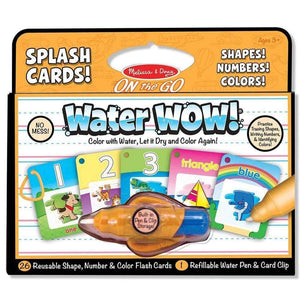 Melissa and Doug Water Wow Splash Cards - Shapes, Numbers, Colours